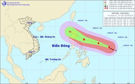 Xuất hiện bão Maysak hoạt động mạnh trên vùng biển Philippines - ảnh 1