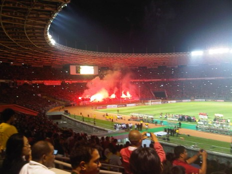 Tuyển Indonesia phải đá hai trận không khán giả - ảnh 1