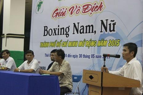 Khai mạc giải vô địch Boxing mở rộng TP HCM năm 2015 - ảnh 2