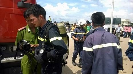 Rò rỉ khí ga, hàng trăm công nhân tháo chạy tán loạn - ảnh 1