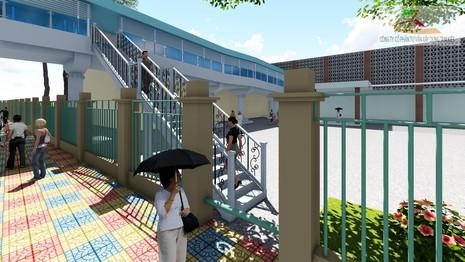Thêm một cầu bộ hành nối hai bên bệnh viện - ảnh 3