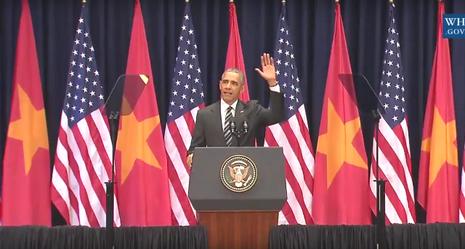 Bài phát biểu gây xúc động đặc biệt của Tổng thống Obama - ảnh 1