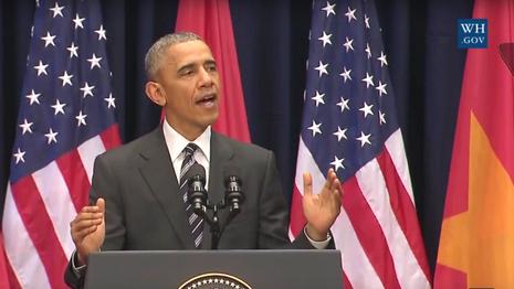Ông Obama phát biểu tại Hà Nội: 'Từ đây người biết thương người' - ảnh 1