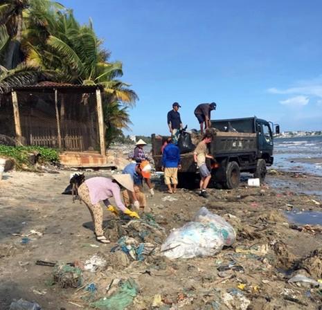 Hàng chục du khách nước ngoài tự nguyện dọn rác ở Mũi Né - ảnh 4