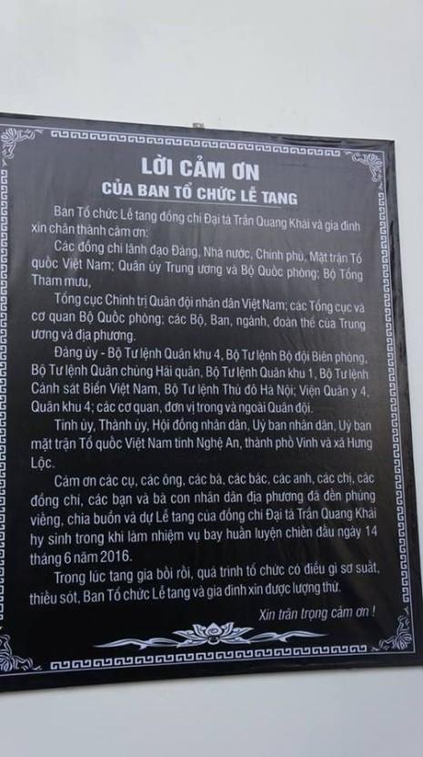 Lễ truy điệu Đại tá phi công Su-30 Trần Quang Khải: Đưa Anh về đất mẹ - ảnh 28