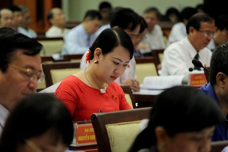 Các đại biểu tham dự kỳ họp thứ hai HĐND TP.HCM khóa IX