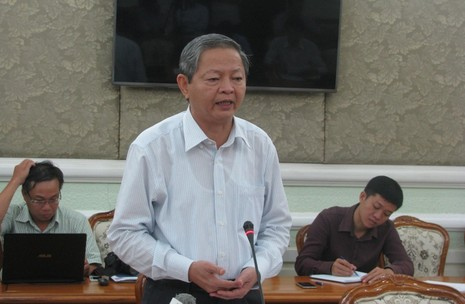 Phó Chủ tịch UBND TP.HCM Lê Văn Khoa kết luận cuộc họp. Ảnh: TÁ LÂM