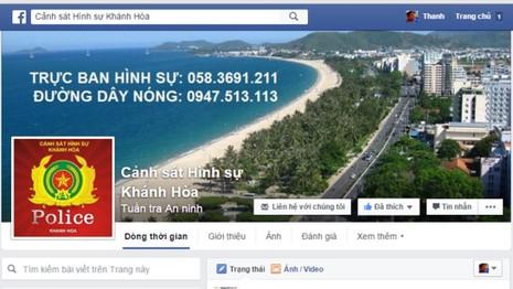 Công an Khánh Hòa lập Facebook, điện thoại nóng quản lý địa bàn - ảnh 1