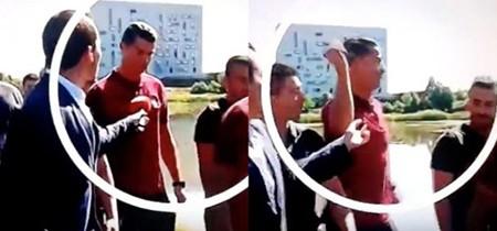 Vì sao phóng viên bị Ronaldo ném mic xuống hồ - ảnh 1