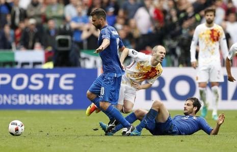 "Parolo và Motta ""bủa vây"" Iniesta"