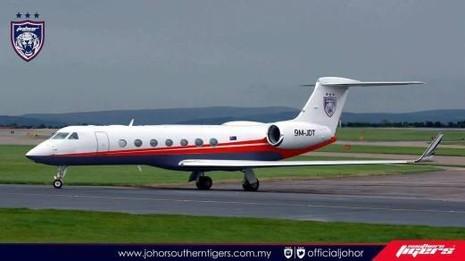 Chiếc Gulfstream này là chuyên cơ của CLB JDT