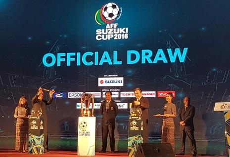 Kết quả bốc thăm AFF Cup 2016: 'Quang gánh' không cân xứng - ảnh 1