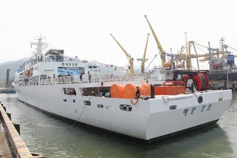 Tàu huấn luyện lực lượng bảo vệ bờ biển Hàn Quốc đến Đà Nẵng - ảnh 3