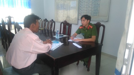 Cơ quan công an mời Quang lên làm việc