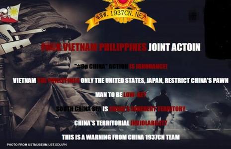 Tin tặc Trung Quốc đăng tin đe dọa về Biển Đông - ảnh 1
