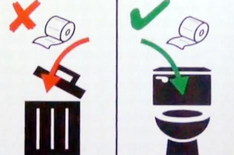 Thụy Sĩ 'ưu ái' khách châu Á, dán áp phích cách đi vệ sinh - ảnh 2