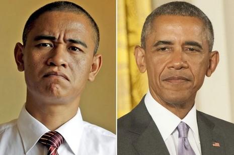 Nam diễn viên Trung Quốc y hệt tổng thống Obama - ảnh 1