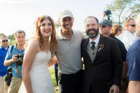 Tổng thống Obama bất ngờ làm 'khách không mời' ở đám cưới - ảnh 2