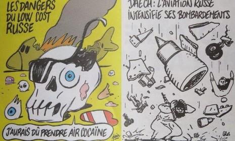 Nga nổi giận trước bức biếm họa máy bay rơi của Charlie Hebdo  - ảnh 2