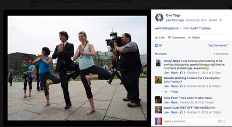 Thủ tướng điển trai Canada khoe tư thế như 'bậc thầy yoga' - ảnh 2