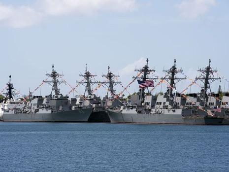 Tàu chiến từ 25 nước tham gia cuộc tập trận Thái Bình Dương ngoài khơi Hawaii.
