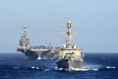 tàu sân bay Mỹ trên Biển Đông