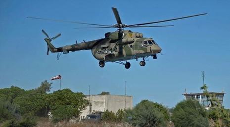 Trực thăng quân sự Mi-8 của Nga rơi tại Syria - ảnh 1