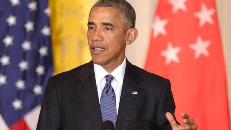 Tổng thống Mỹ Barack Obama phát biểu tại Nhà Trắng ngày 2-8. (Ảnh: Reuters)