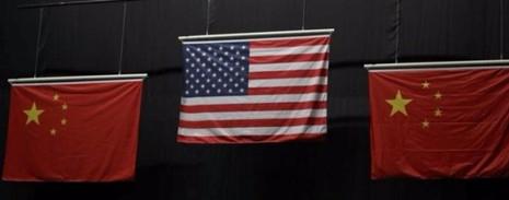 """Lá cờ Trung Quốc """"dỏm"""" có 4 ngôi sao nhỏ nằm song song trên phương dọc. Ảnh: SCMP"""