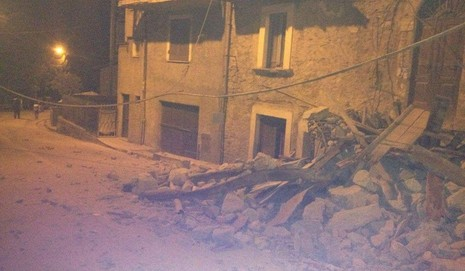 Thị trấn Ametrice ở miền trung Ý chịu thiệt hại nặng nề. Ảnh: Washington Times