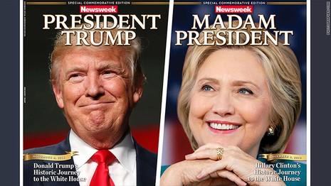 Báo Mỹ làm trước bìa Clinton chiến thắng gây 'bão' mạng - ảnh 1