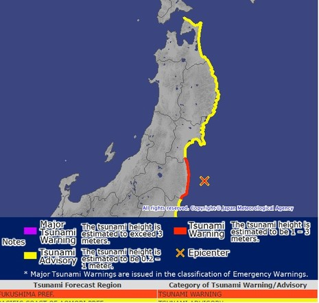 Nhật Bản cảnh báo sóng thần, sơ tán dân khẩn cấp - ảnh 1