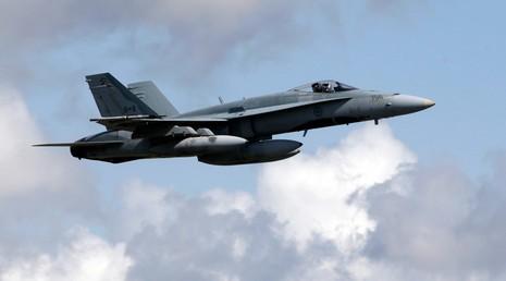 Máy bay chiến đấu Canada CF-18. Ảnh: REUTERS