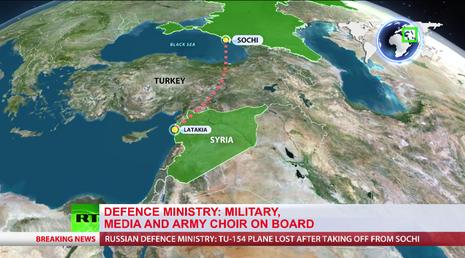Máy bay Nga chở 92 người đi Syria rơi ở biển Đen - ảnh 1