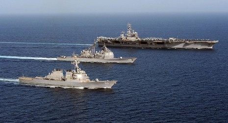 Mỹ rút toàn bộ tàu sân bay trên thế giới về nước - ảnh 1