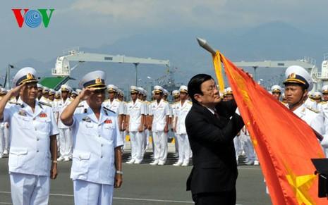 Chủ tịch nước trao danh hiệu Anh hùng cho Quân chủng Hải quân - ảnh 1