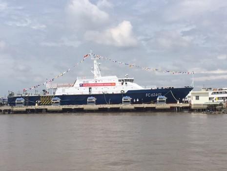Hạ thủy tàu tuần tra kết hợp tìm kiếm cứu nạn xa bờ hiện đại - ảnh 1
