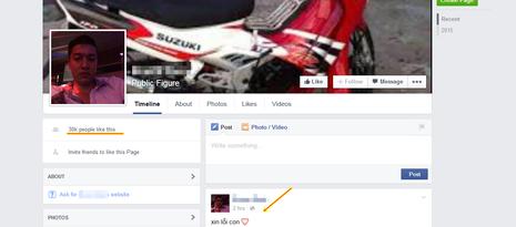 Xuất hiện Facebook giả nghi can Nguyễn Hải Dương để câu like - ảnh 1