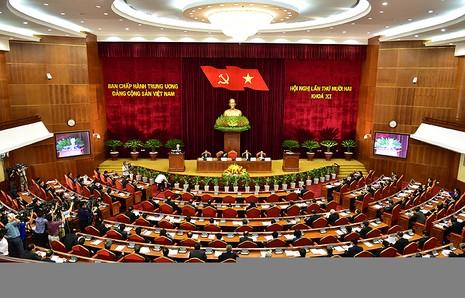 Ngày làm việc đầu tiên Hội nghị Trung ương lần thứ 12 - ảnh 1
