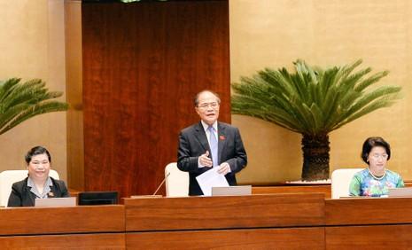 Chủ tịch Quốc hội lần đầu tiên trả lời chất vấn - ảnh 1