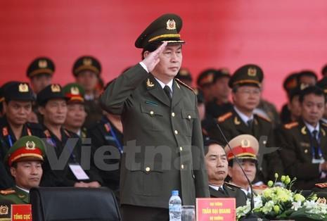 Bộ trưởng Trần Đại Quang phát lệnh xuất quân bảo vệ Đại hội Đảng - ảnh 1