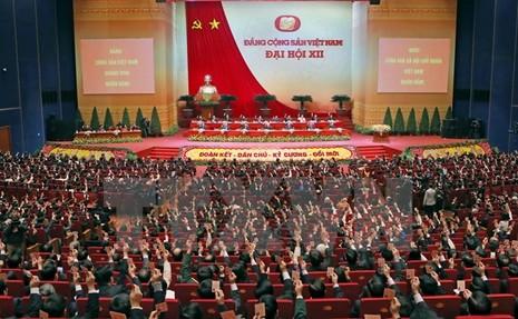 Toàn cảnh phiên bế mạc Đại hội toàn quốc lần thứ XII của Đảng - ảnh 9