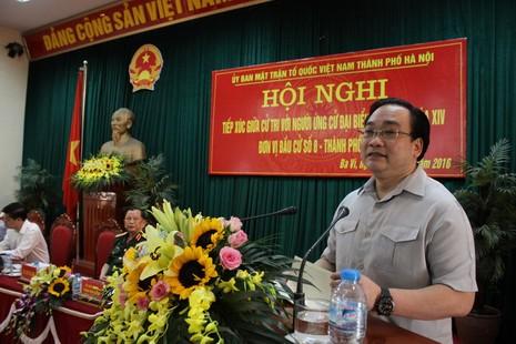 Bí thư Hà Nội Hoàng Trung Hải hứa 'bảo vệ quyền lợi của cử tri' - ảnh 1