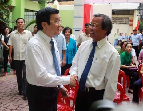 Ông Trương Tấn Sang, ông Nguyễn Tấn Dũng đi bầu cử ở TP.HCM - ảnh 1