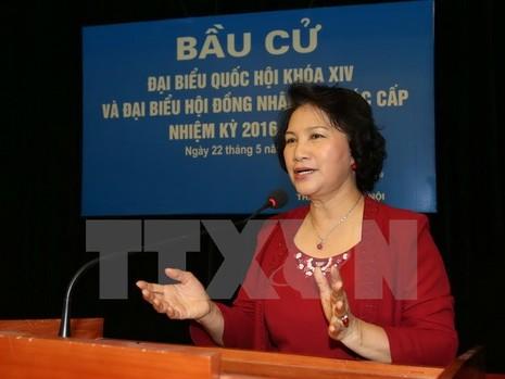 Lời gửi gắm tới cử tri của Chủ tịch QH Nguyễn Thị Kim Ngân - ảnh 1
