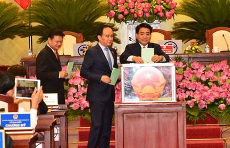 Ông Nguyễn Đức Chung tái đắc cử chức chủ tịch UBND TP Hà Nội - ảnh 1