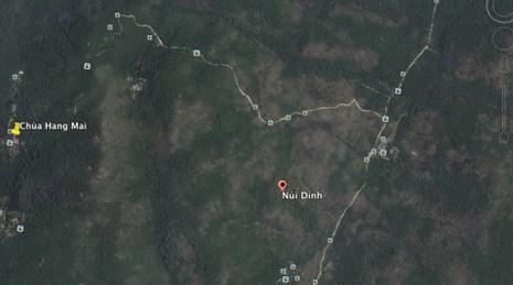 Đã xác định khu vực máy bay trực thăng rơi ở núi Dinh - ảnh 1