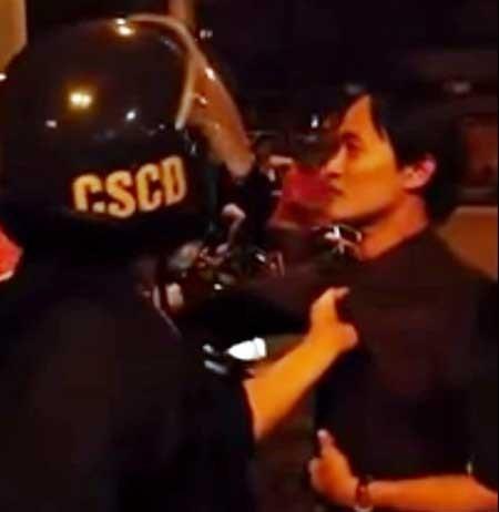 Người trong clip 'cảnh sát cơ động túm cổ áo dân' lên tiếng - ảnh 2