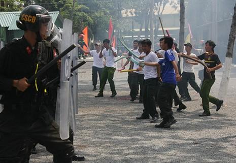 Xem cảnh sát cơ động Bình Dương trình diễn võ thuật - ảnh 4