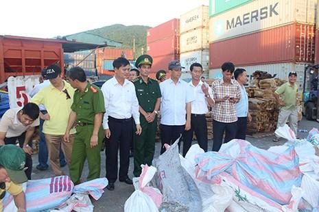 Cận cảnh ba container chứa hơn 2,2 tấn ngà voi ở Đà Nẵng - ảnh 2